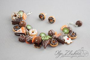 jewelry set with sweets by polyflowers