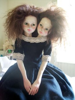 Conjoined Twins Doll by Rhissanna