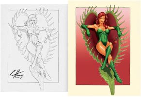 Clayton Henry poison ivy paint by aleciarodriguez