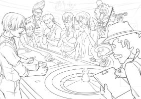 one piece outline 2009 by FeiGiap