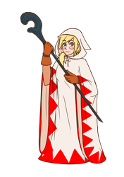 Daily Doodle #56 - White Mage Ada by Mr-Sage