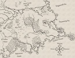 Terisylian Map (Early 4th Age) by ICLHStudios