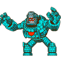 8-Bit Block Golem Animation by hfbn2