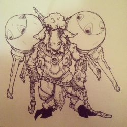 Space Sheep! Inktober Day 1 by doktord