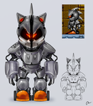 Silver 'Metal' Sonic - Redesign Concept by Danny-Jay