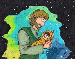 Luke And His Little Rey Of Hope by RainbowFay