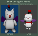 Moogle Before and After by SiverCat