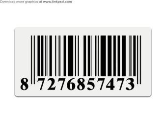 Barcode stickers PSD file by mizie2009