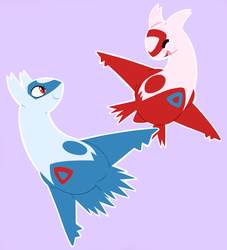 Latias and Latios by TurrKoise