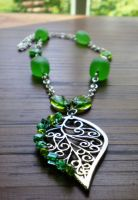 Wrought in Green Necklace by CorvaCarolina