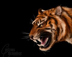 Tiger Speedpaint by CuriousCucumber