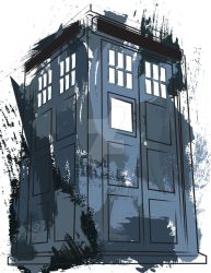 Tardis Splatter by EdwardKillum