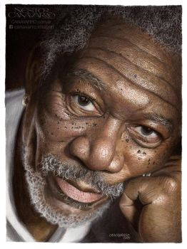 Morgan Freeman by NestorCanavarro
