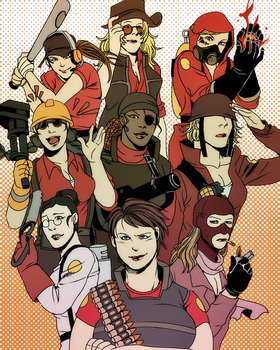 TF2 womenfolks by uromang