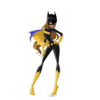 Flora - Batgirl with mask by CSImaginary