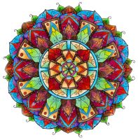 Coloured Mandala by WelshPixie