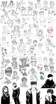 Dump: sketches and b/w drawings by TiNoSa