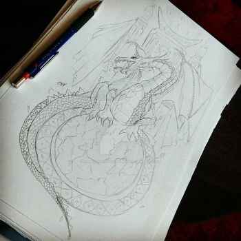 Dragon Sketch!  by HannahVictoriaBibby
