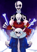 Skele Trio by GreatPeace