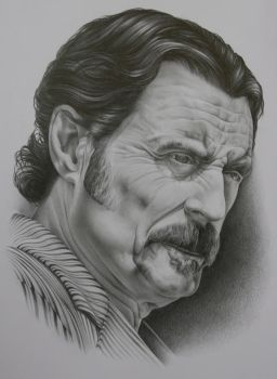 Ian Mcshane by scottieford