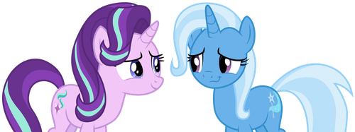 Starlight Glimmer and Trixie by CloudyGlow