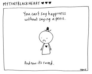My Tiny Black Heart 4: Happiness by icanseeyourmonkey