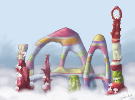 Lolipop mountains by Catharin4