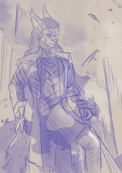 [request] Risk Cosplays Loki Sketch by WhiteWolfTikaani