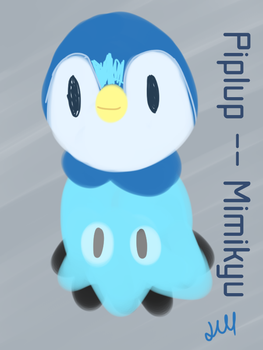 Piplup Mimikyu by Lineon-RL