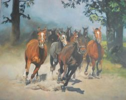 herd of horses 2 by anna36