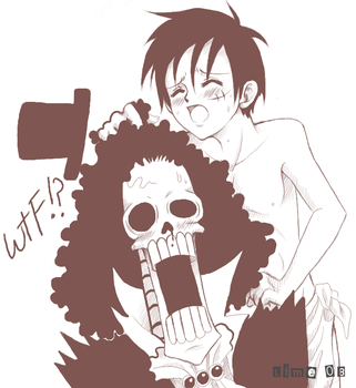 Brook X Luffy - WTF by AprilPolitano
