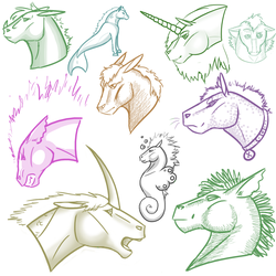 Horse Sketches by Sephinta
