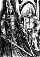 Revan and Malak before the Trayus by anne-wild