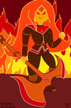 Warrior Flame Princess-FanArt by Andrasfu1027
