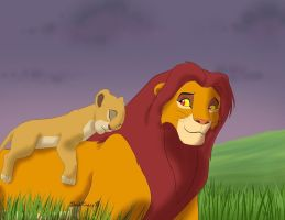 Simba and Kiara by YdalirWendigo