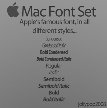 Mac Font Set by jollypop2008
