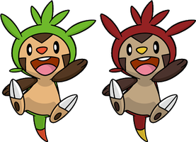 Shiny Chespin Dream World by KrocF4