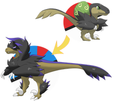 Velicrook and Raprowler [Fakemon] by YuuutsuNoNata
