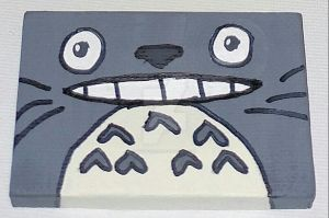 Mini Canvas: Totoro by wolf-girl87