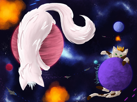 Space Cat War by WolvaraAsh