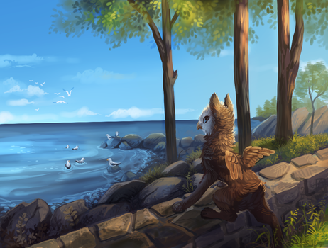 Out to sea by griffsnuff