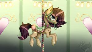 Coffee Cake on a Carousel [finished YCH] by Blinkingpink