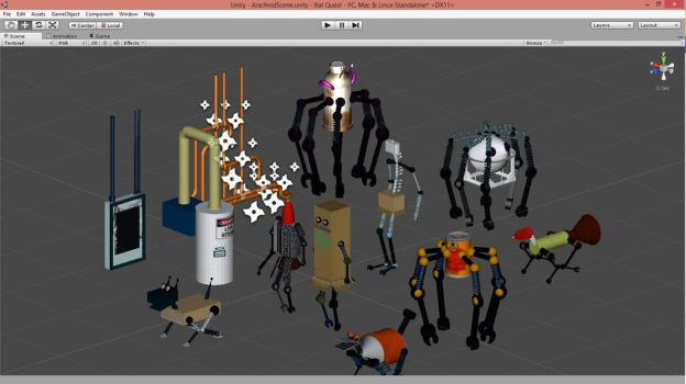 3D Robots by NinjaObsessed