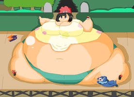 Fat PKMN Trainer - 9 - The Alola Girl by SodaBaruun