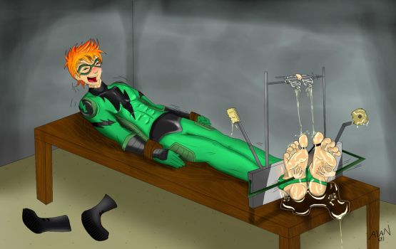 commision: emerald fox tickle torture by alan-underfoot