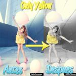 Only Yellow action. by AgustinaCruz