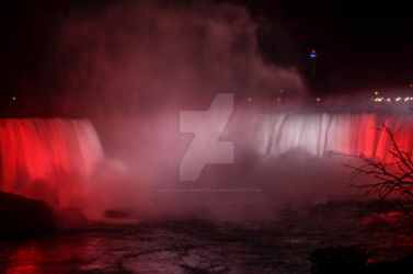 Horseshoe Falls (Canadian Falls) at Niagara by NightshadeCreepypasa