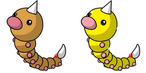 Pokemon #013 - Weedle by Fyreglyphs