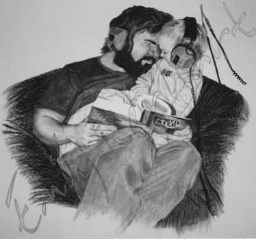 For Dad - Charcoal Dry-Painting by TreeClimber