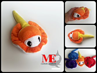 Candy Corn Halloween Stingray Plush Beanie by MayEsdot